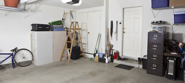 Clean empty swept interior suburban garage